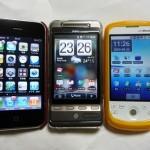 iPhone HTC Hero HT-03Aを並べてみた